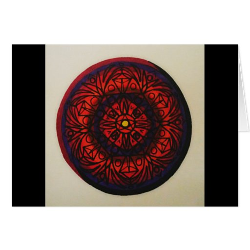 cool circle design greeting card zazzle. Black Bedroom Furniture Sets. Home Design Ideas