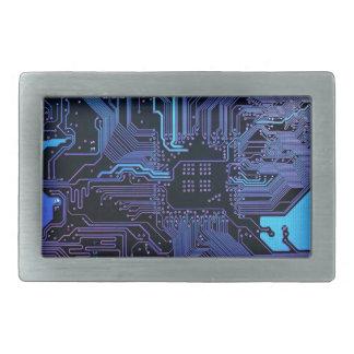 Cool Circuit Board Computer Blue Purple Belt Buckle
