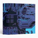 Cool Circuit Board Computer Blue Purple Vinyl Binders