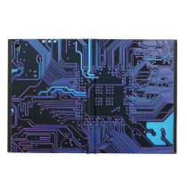 Cool Circuit Board Computer Blue Purple iPad Air Cover