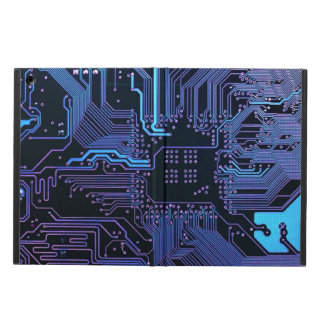 Cool Circuit Board Computer Blue Purple iPad Covers