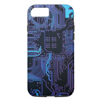 Cool Circuit Board Computer Blue Purple iPhone 7 iPhone 7 Case