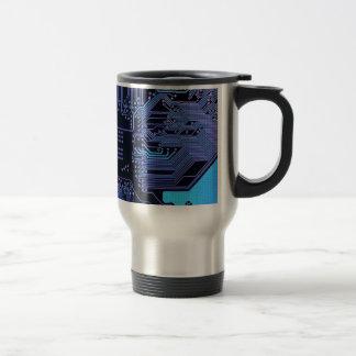 Cool Circuit Board Computer Blue Purple Coffee Mug