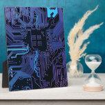 "Cool Circuit Board Computer Blue Purple Plaque<br><div class=""desc"">Cool Circuit Board Computer Blue Purple</div>"