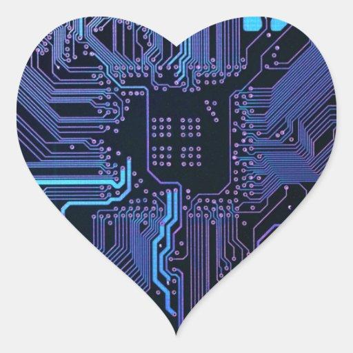 Cool Circuit Board Computer Blue Purple Sticker