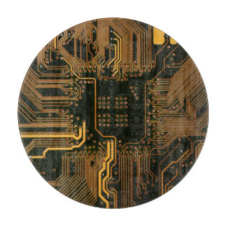 Cool Circuit Board Computer copper and black