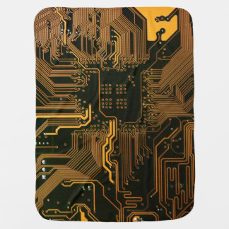 Cool Circuit Board Computer copper and black Baby Blanket