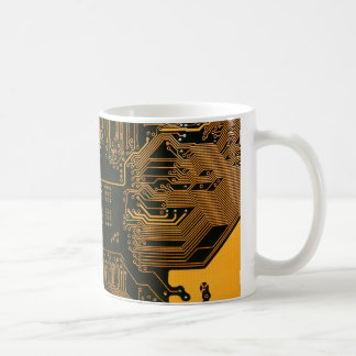 Cool Circuit Board Computer copper and black Coffee Mug