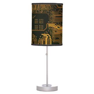 Cool Circuit Board Computer copper and black Desk Lamp