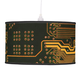 Cool Circuit Board Computer copper and black Hanging Lamp