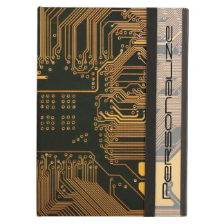 Cool Circuit Board Computer copper and black iPad Air Cover
