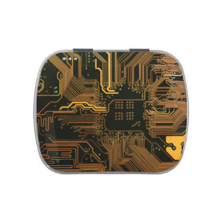 Cool Circuit Board Computer copper and black Jelly Belly Tin