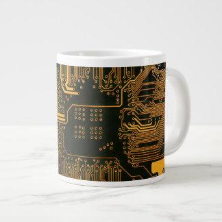 Cool Circuit Board Computer copper and black Large Coffee Mug