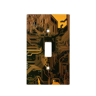 Cool Circuit Board Computer copper and black Light Switch Covers