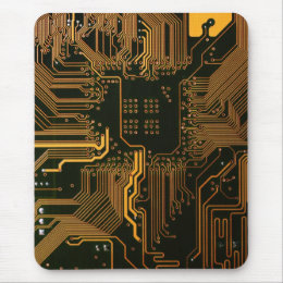 Cool Circuit Board Computer copper and black Mouse Pad