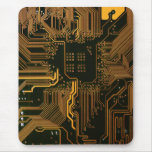 Cool Circuit Board Computer copper and black Mousepads
