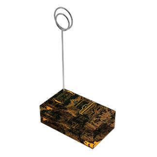 Cool Circuit Board Computer copper and black Place Card Holder