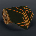 """Cool Circuit Board Computer copper and black Tie<br><div class=""""desc"""">Cool Circuit Board Computer copper an black  for the geeks in all of us</div>"""