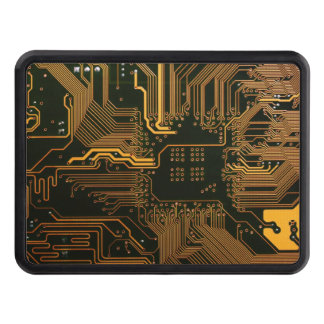 Cool Circuit Board Computer copper and black Tow Hitch Cover