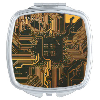 Cool Circuit Board Computer copper and black Vanity Mirror