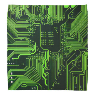 Cool Circuit Board Computer Green Bandana