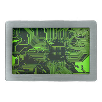 Cool Circuit Board Computer Green Belt Buckle
