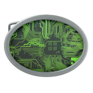 Cool Circuit Board Computer Green Belt Buckle