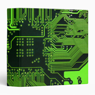 Cool Circuit Board Computer Green Binder
