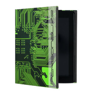 Cool Circuit Board Computer Green iPad Cover