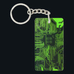 "Cool Circuit Board Computer Green Keychain<br><div class=""desc"">Cool Circuit Board Computer Green for the geeks in all of us</div>"