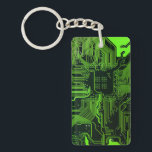 """Cool Circuit Board Computer Green Keychain<br><div class=""""desc"""">Cool Circuit Board Computer Green for the geeks in all of us</div>"""