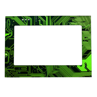 Cool Circuit Board Computer Green Magnetic Photo Frame