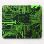 Cool Circuit Board Computer Green Mousepads