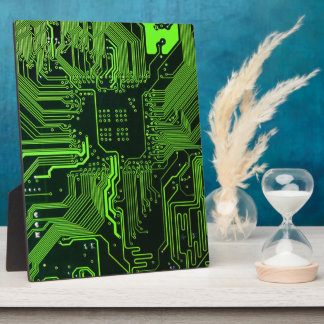 Cool Circuit Board Computer Green Plaque