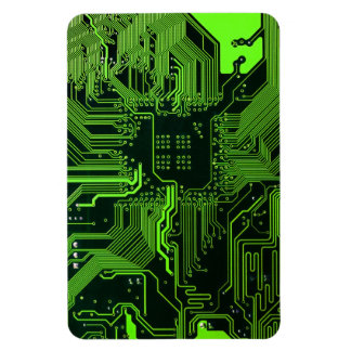 Cool Circuit Board Computer Green Vinyl Magnet