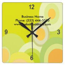 Cool Citrus Circles Wall Clock