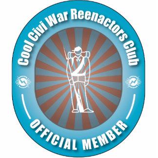 Cool Civi War Reenactors Club Photo Sculpture Ornament