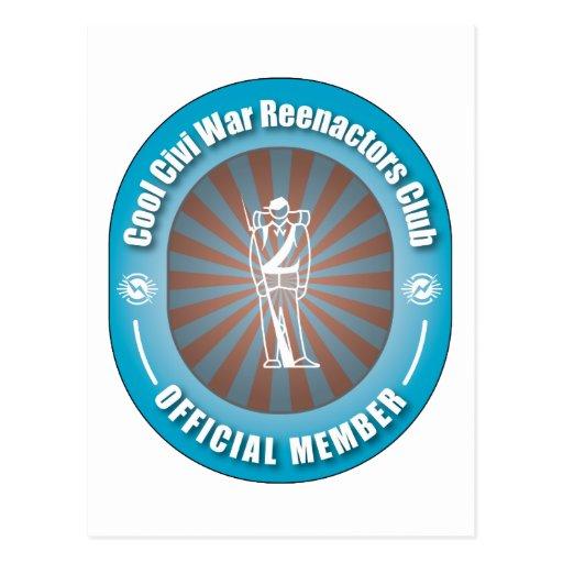 Cool Civi War Reenactors Club Postcard