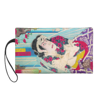 Cool clasic oriental japanese old warrior art wristlets