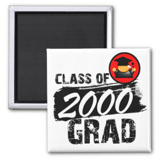 Cool Class of 2000 Grad 2 Inch Square Magnet