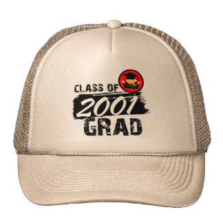 Cool Class of 2001 Grad Trucker Hat