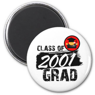 Cool Class of 2001 Grad 2 Inch Round Magnet