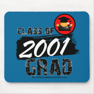 Cool Class of 2001 Grad Mouse Pad