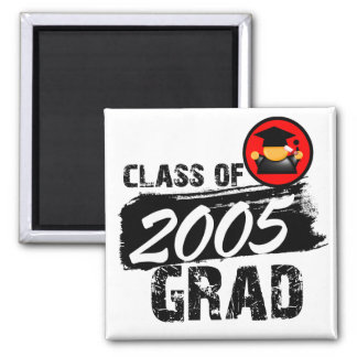 Cool Class of 2005 Grad 2 Inch Square Magnet