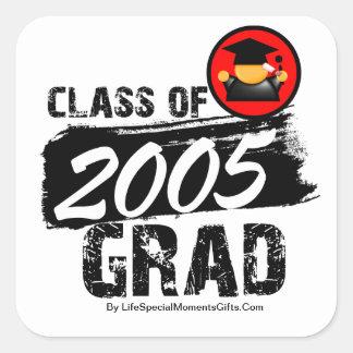 Cool Class of 2005 Grad Square Sticker