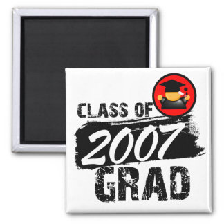 Cool Class of 2007 Grad 2 Inch Square Magnet