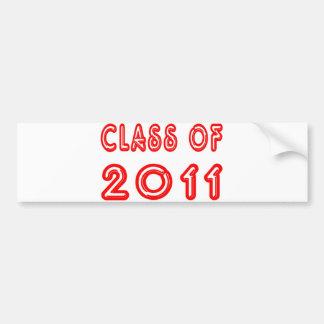 Cool Class of 2011 Bumper Sticker