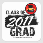 Cool Class of 2011 Grad Square Sticker