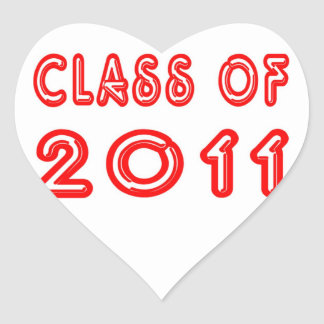 Cool Class of 2011 Heart Sticker