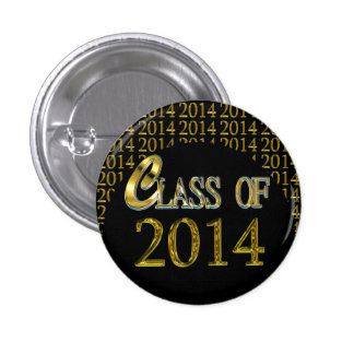 Cool Class Of 2014 Gold & Black Graduation Pins